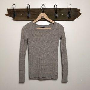 American Eagle Sweater Twisted Knit